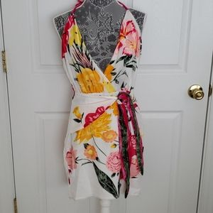 NBD Floral Halter Mini Dress from Revolve NWT